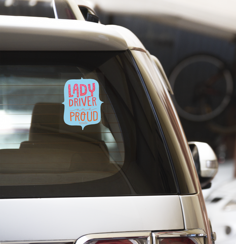 LADY DRIVER CAR DECAL