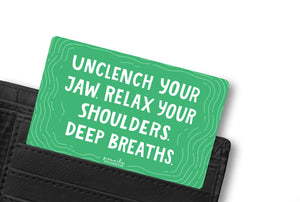 DEEP BREATHS WALLET CARD