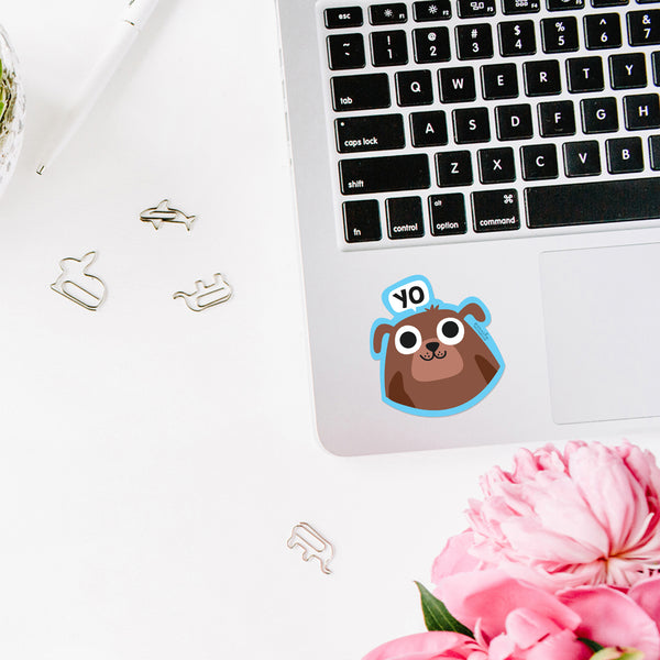 PETS LAPTOP STICKERS - PACK OF 2