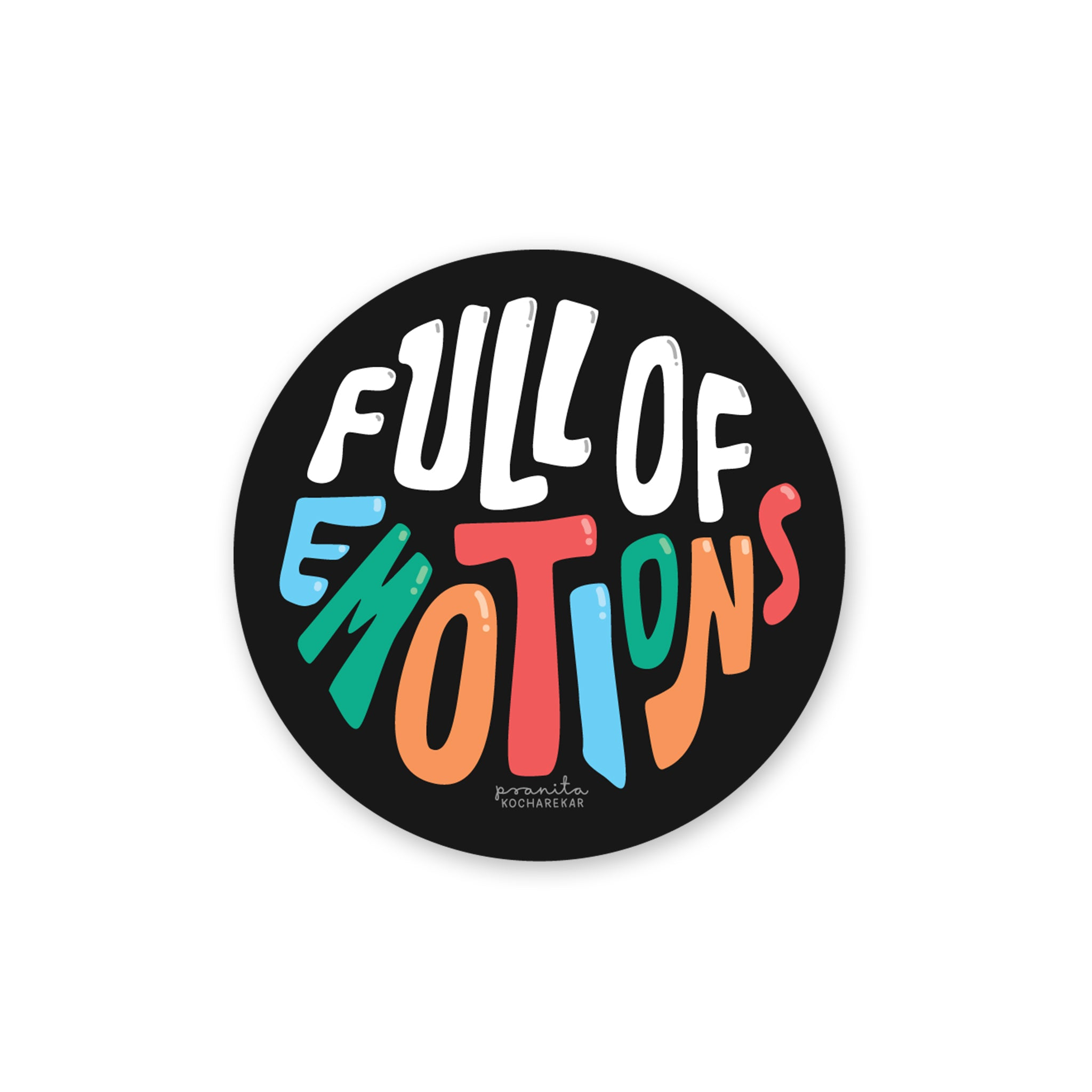 FULL OF EMOTIONS LAPTOP STICKER