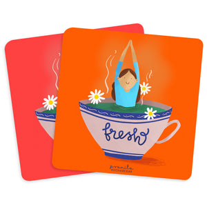 FRESH COASTERS - SET OF 2