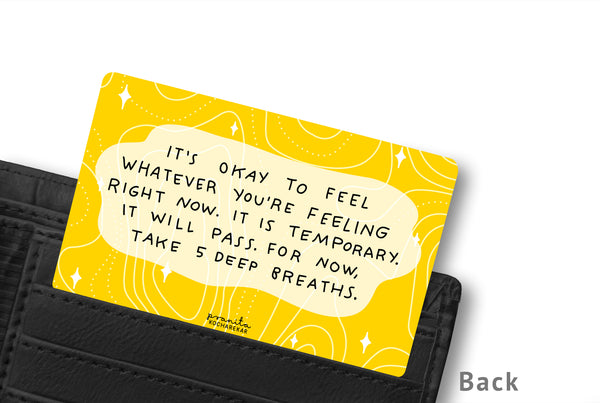 ANXIETY WALLET CARD