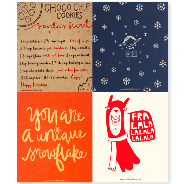 CHRISTMAS & NEW YEAR CARDS PACK