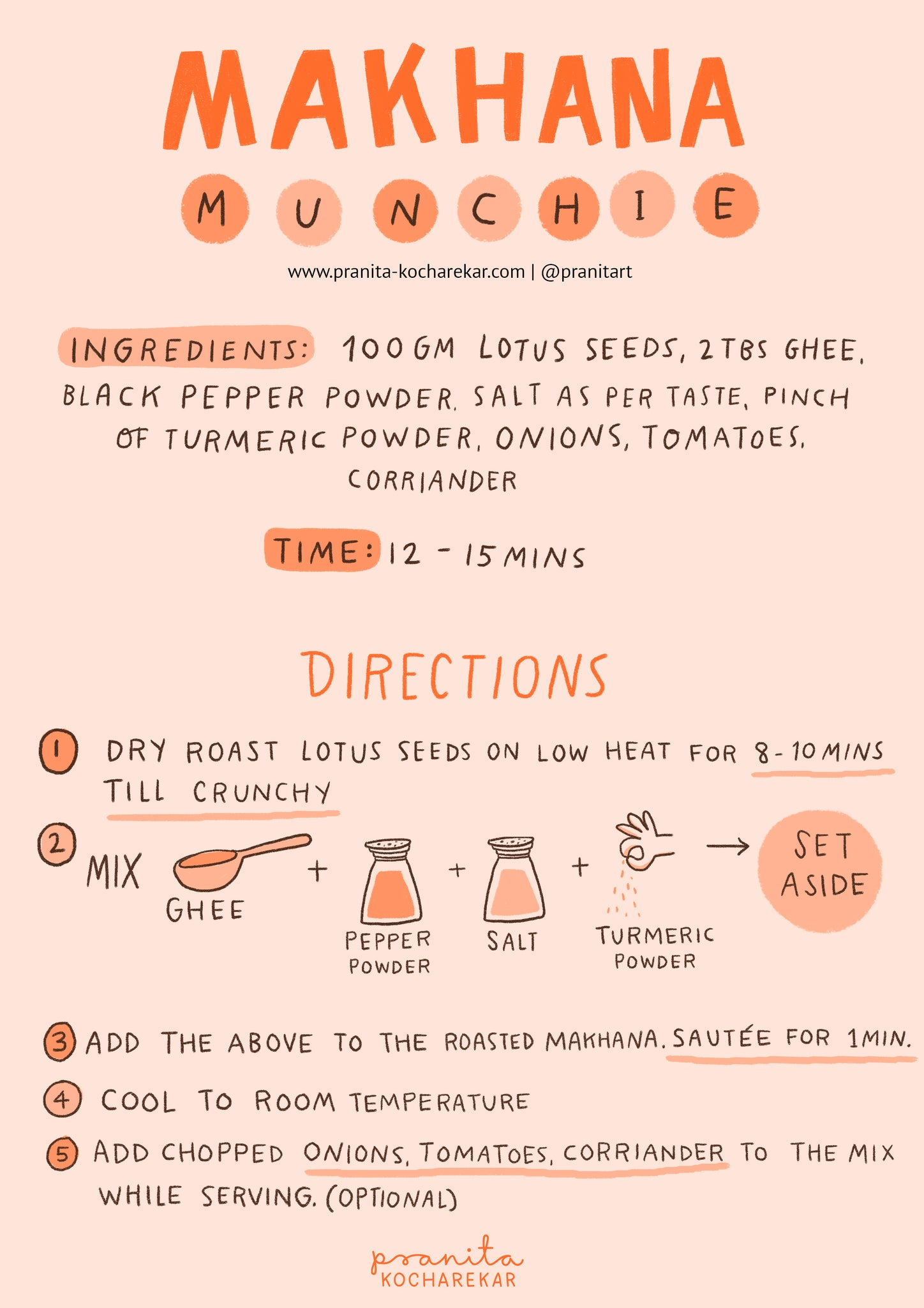 MAKHANA MUNCHIES RECIPE