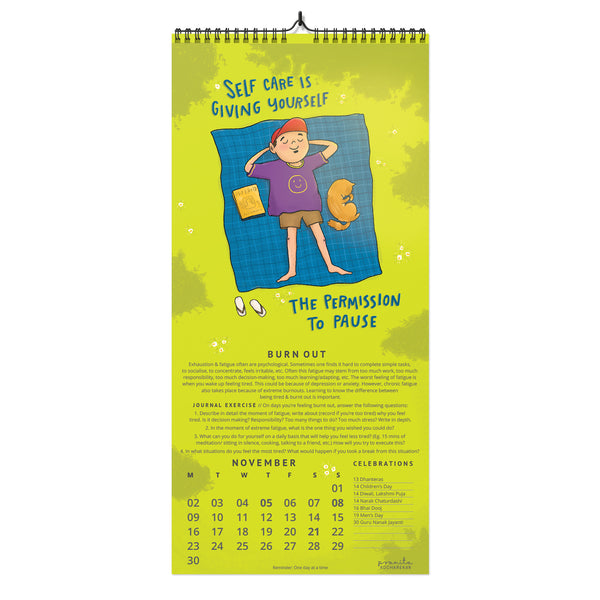 Note To Self 2020 Wall Calendar