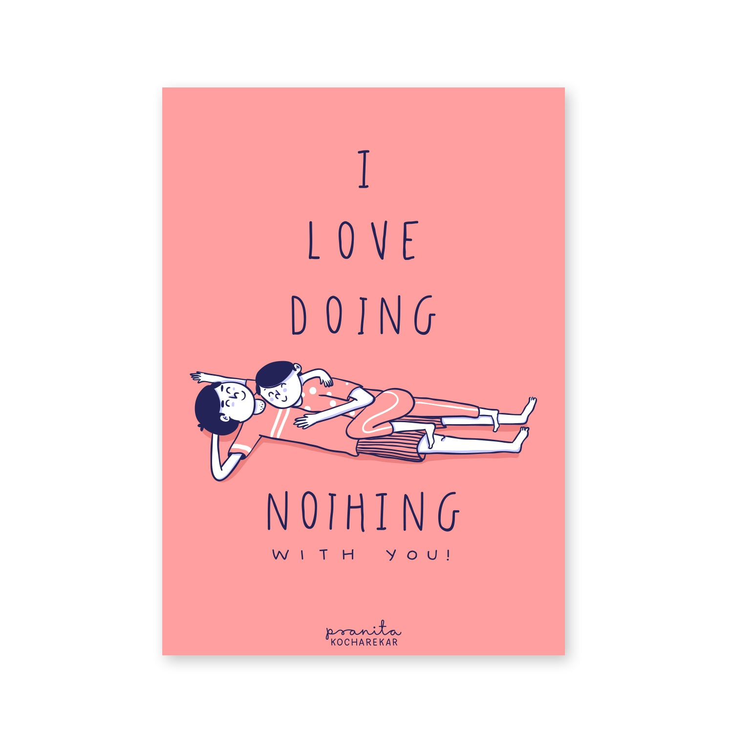 LOVE DOING NOTHING POSTCARD