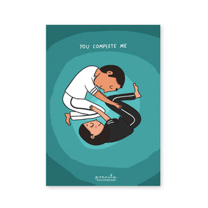 YOU COMPLETE ME POSTCARD