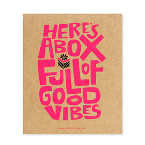 BOX OF GOOD VIBES POSTCARD