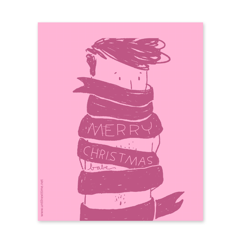 MERRY CHRISTMAS BABE POSTCARD