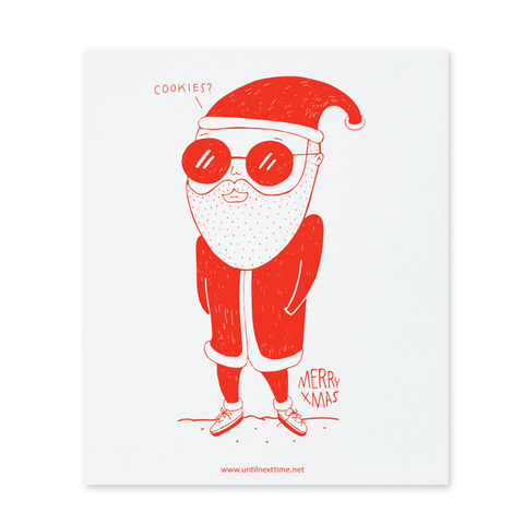 HUNGRY SANTA POSTCARD