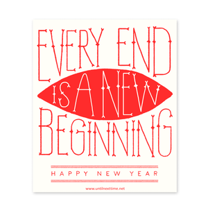 MOTIVATIONAL NEW BEGINNINGS POSTCARD