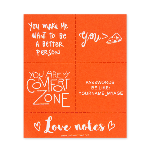 LOVE NOTES POSTCARD