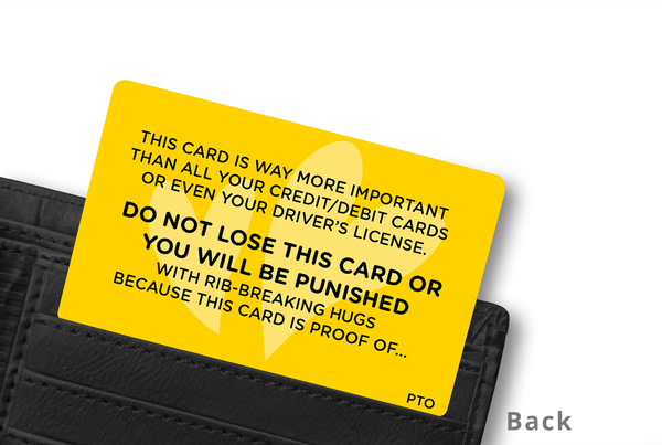 PINKY PROMISE WALLET CARD