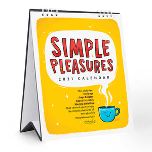 SIMPLE PLEASURES 2021 DESK CALENDAR
