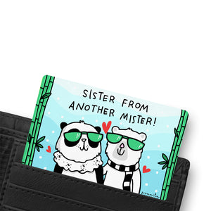 SISTER FRIEND WALLET CARD