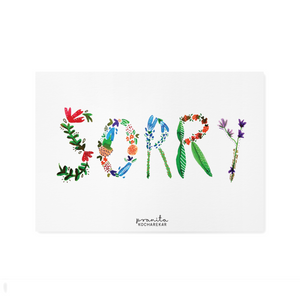 SORRY FLORAL POSTCARD