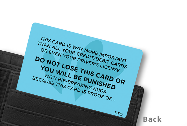 STUCK WITH ME WALLET CARD