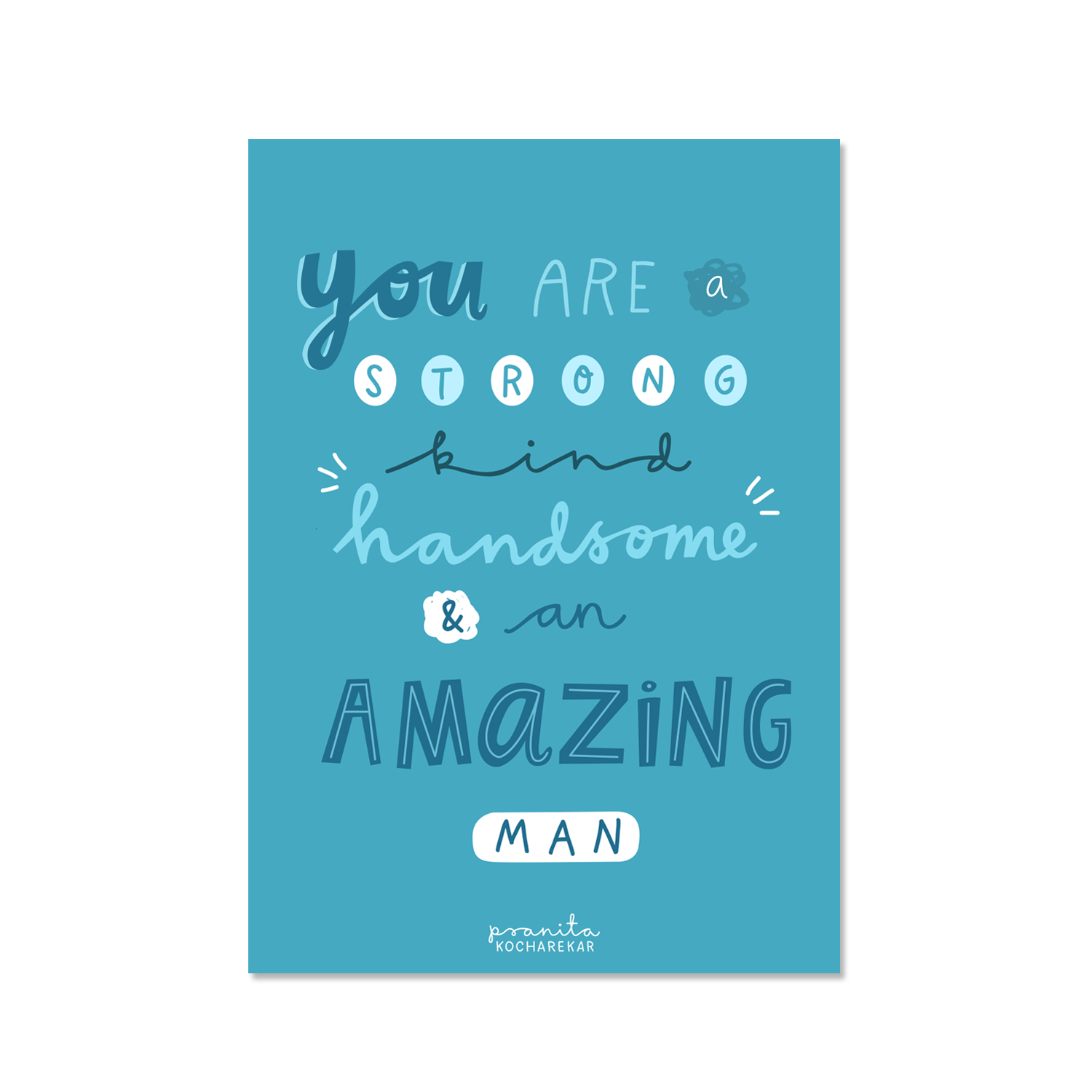 AMAZING MAN POSTCARD