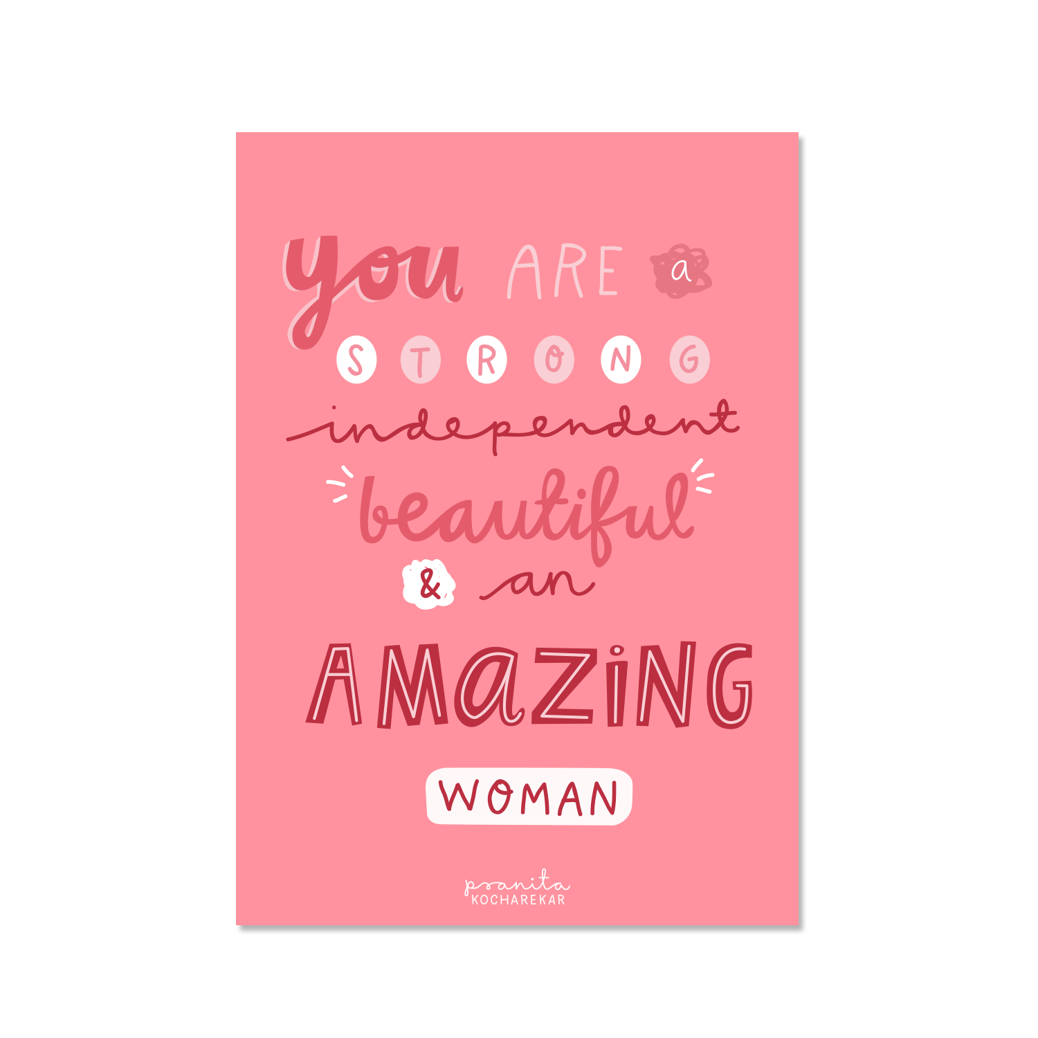 AMAZING WOMAN POSTCARD