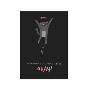 EVERYTHING WILL BE OK POSTCARD