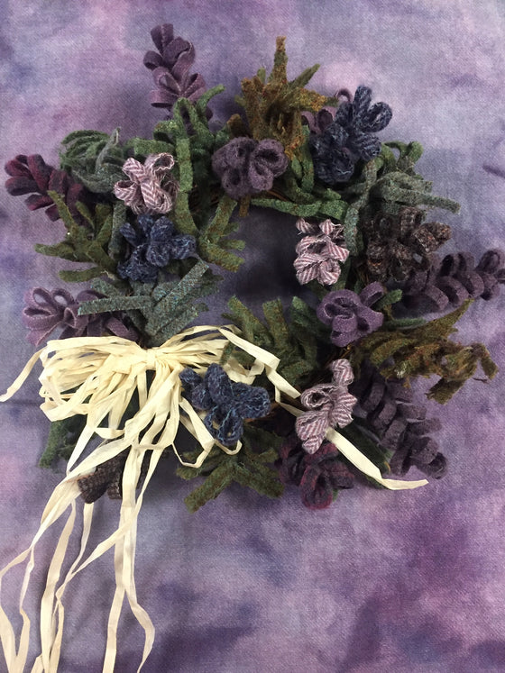 Twisted flower bud wreaths