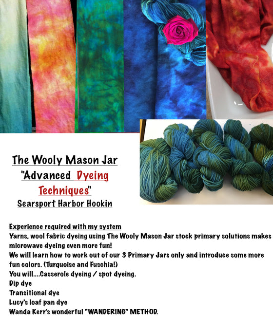 The Wooly Mason Jar Advanced dye class studio 3/6