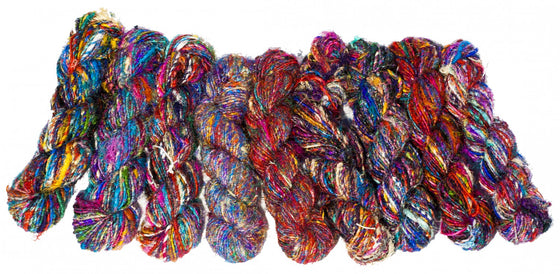 Spun Sari silk yarn
