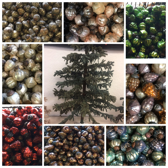 Bulk Glass tree ornaments 36 pc