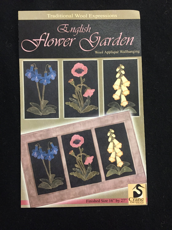 English flower garden appliqué