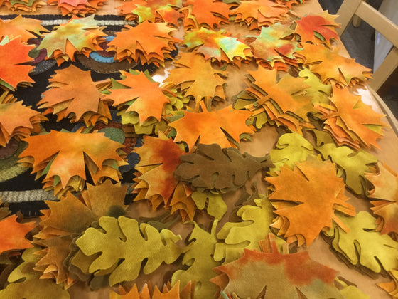 Pre cut Fall Leaves