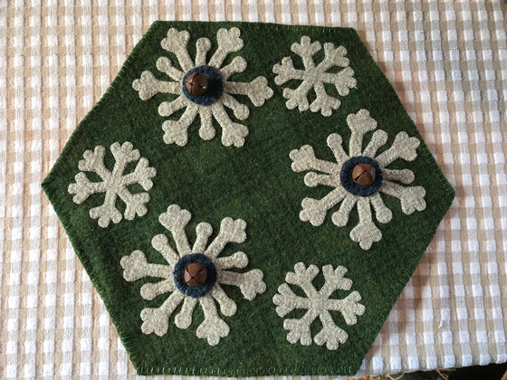 Snow Flake Penny mat or Tree Skirt