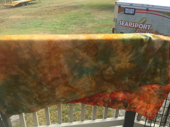Hint of fall hand dyed wool