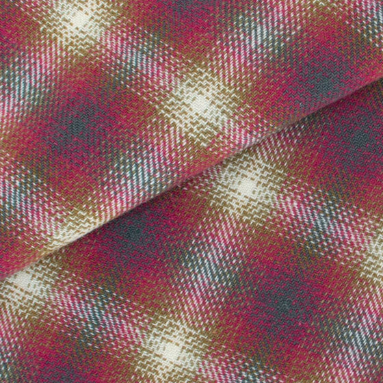 Dorr Mill Raspberry plaid wool
