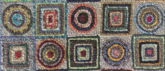 Circles and squares worm buster pattern