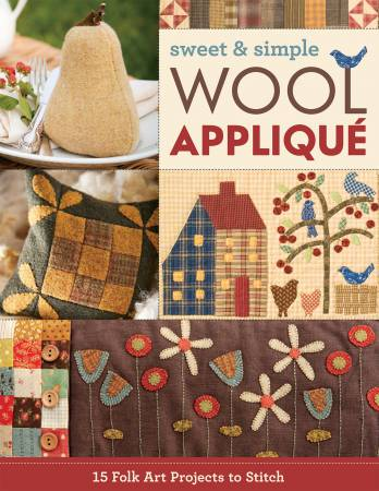 Sweet and simple wool appliqué