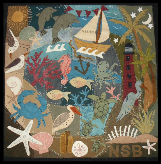 By the Sea Crazy Quilt