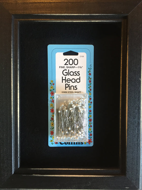 Sharp glass topped pins
