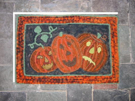 Three Jacks Halloween rug