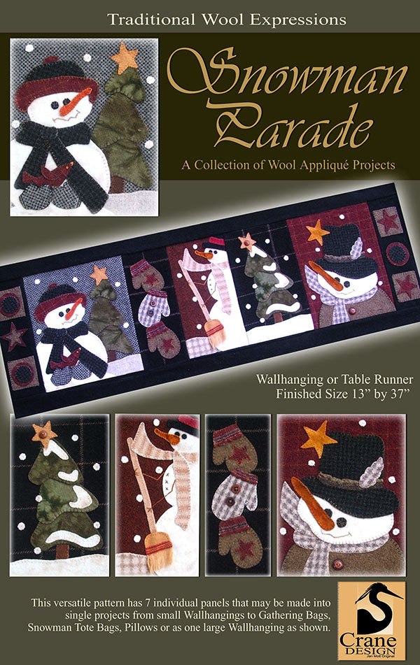 Assorted Snowmen appliqué patterns