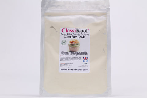 Classikool Ultra Fine Pure Gum Tragacanth Trag Cake Decorating Power - Not CMC