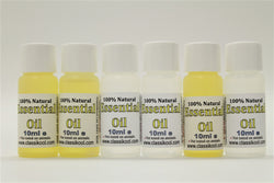 Classikool [10ml Essential Oil Bundle Set of 6] for Aromatherapy, Massage & More