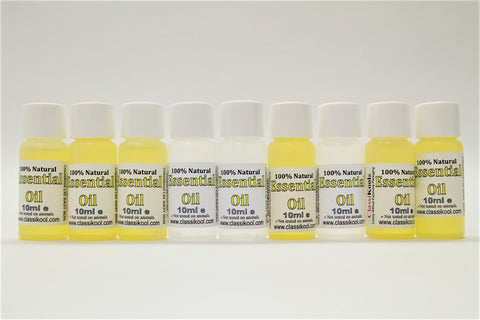 Classikool [10ml Essential Oil Bundle Set of 9] for Aromatherapy, Massage & More