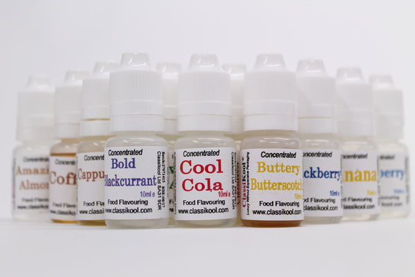 Classikool 10ml Maximum Strength Concentrated Food Flavouring: 90 Flavours