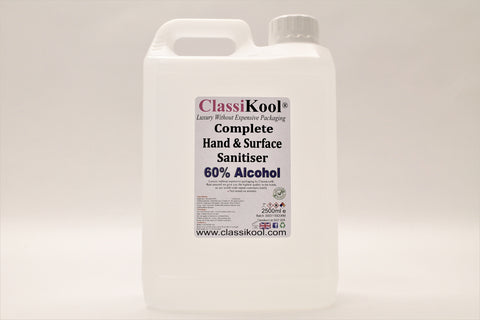 Classikool 2 x 2.5L Complete Hand Sanitiser 60% Alcohol