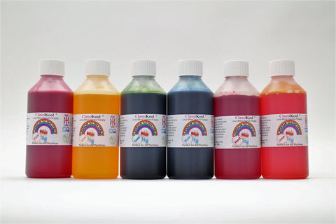 Classikool 6x 250ml Professional Slush Syrup with 78 Flavour & 8 Colour Choices