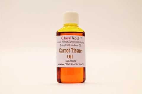Classikool Carrot Tissue Carrier Oil: Sunflower Infused for Massage & Skin Care