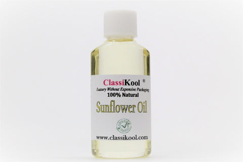 Classikool Sunflower Seed Carrier Oil: 100% Pure Natural for Aromatherapy & Massage