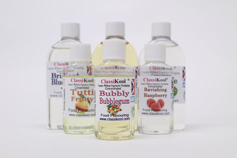 Classikool 250ml *New Flavours* Food Flavouring: Maximum Strength, Concentrated & Professional