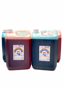 Classikool 4 x 5L Professional Slush Puppy Syrup Set [2x Red Strawberry & 2x Blue Raspberry]