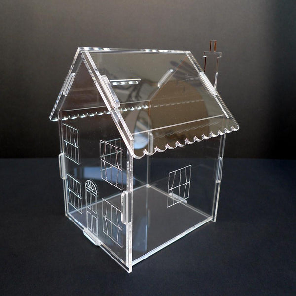 Classikool Acrylic House Money Box/Piggy Bank for Coins - UK Made